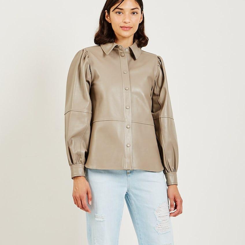 Lamb Leather Shirt 0