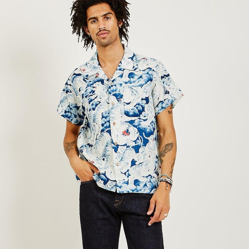Aloha Shirt Tigers Indigo 0