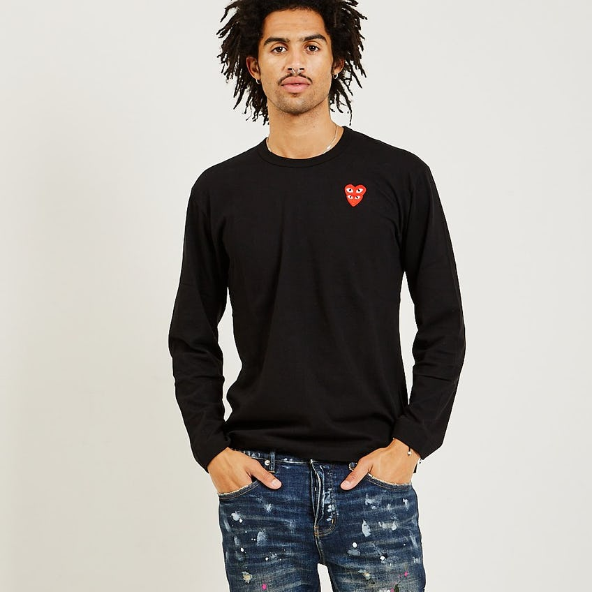 Stacked Red Heart Long Sleeve Tee 0