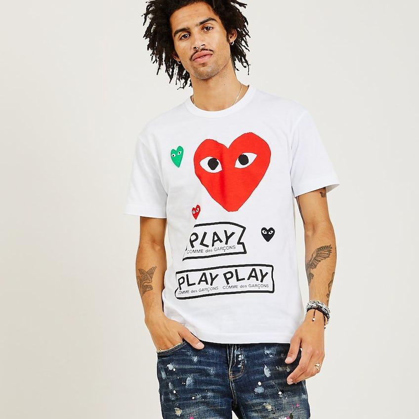 Red Multi Heart Tee 0