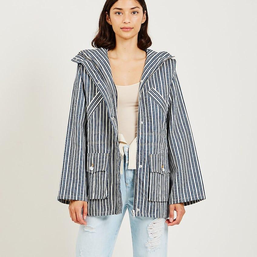 Mixed Stripe Denim Jacket 0