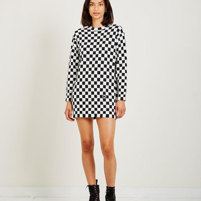 Checkered Dress 0