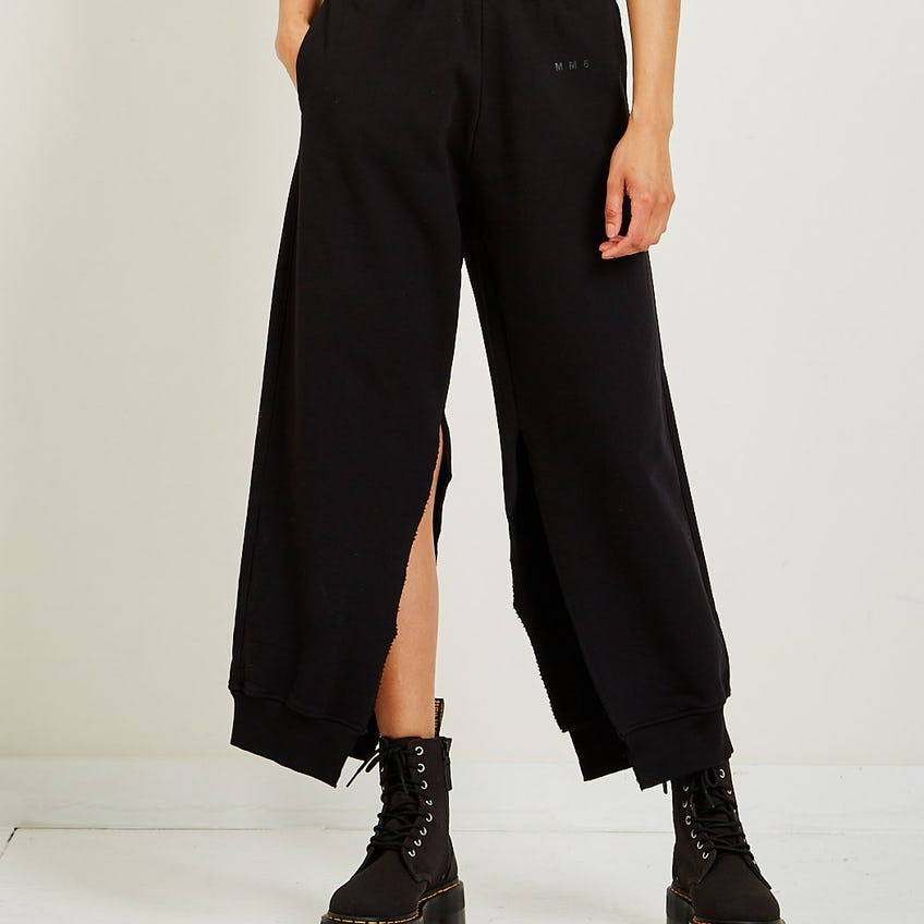 Side Slit Pants Black 0