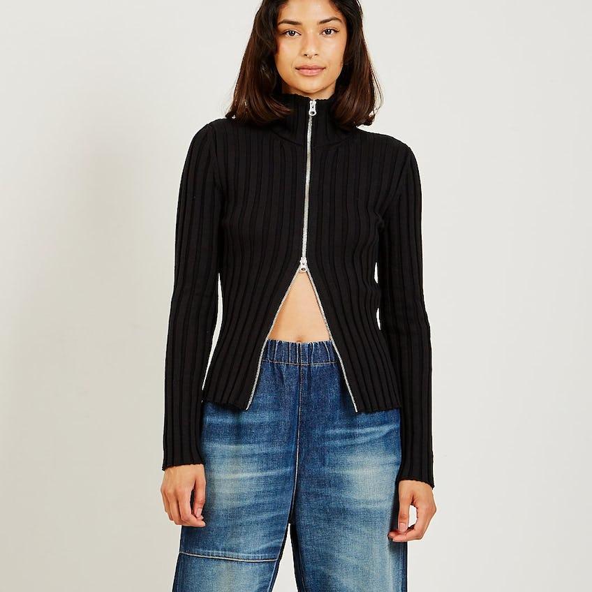 Zip Sweater Black 0