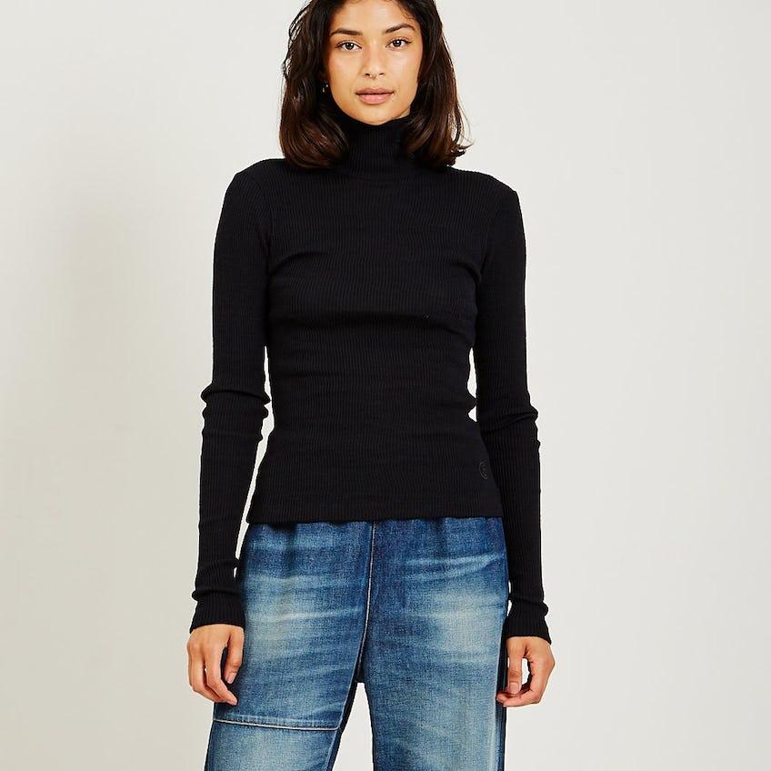 Rib Knit Sweater 0