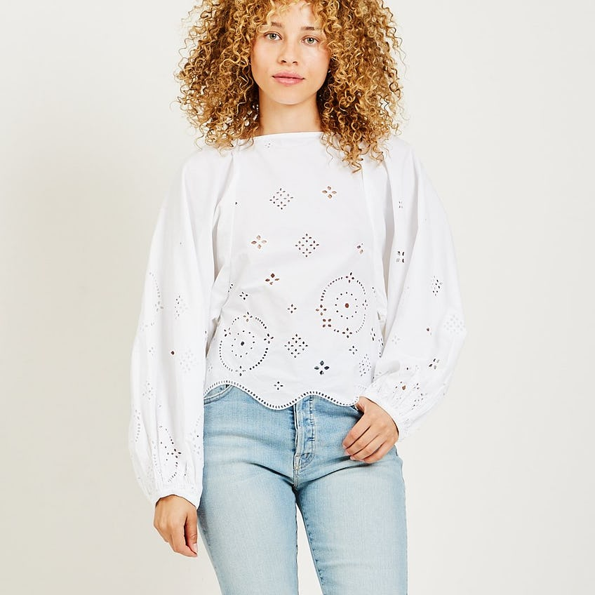 Broderie Anglaise Blouse 0