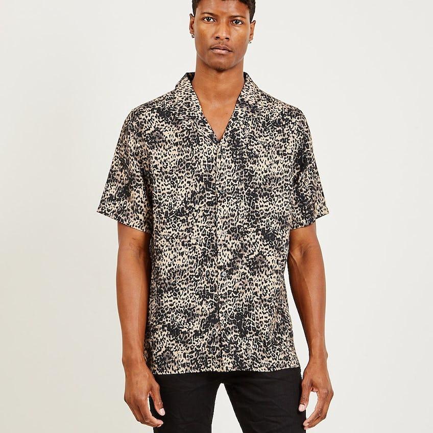 Jungle Resort Shirt Brown Leopard 0