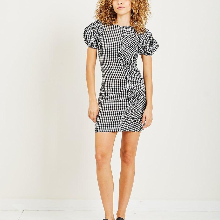 Seersucker Check Dress 0