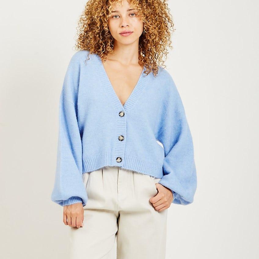 Chasmeen Cardigan Blue 0