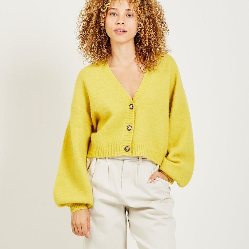 Chasmeen Cardigan Yellow 0