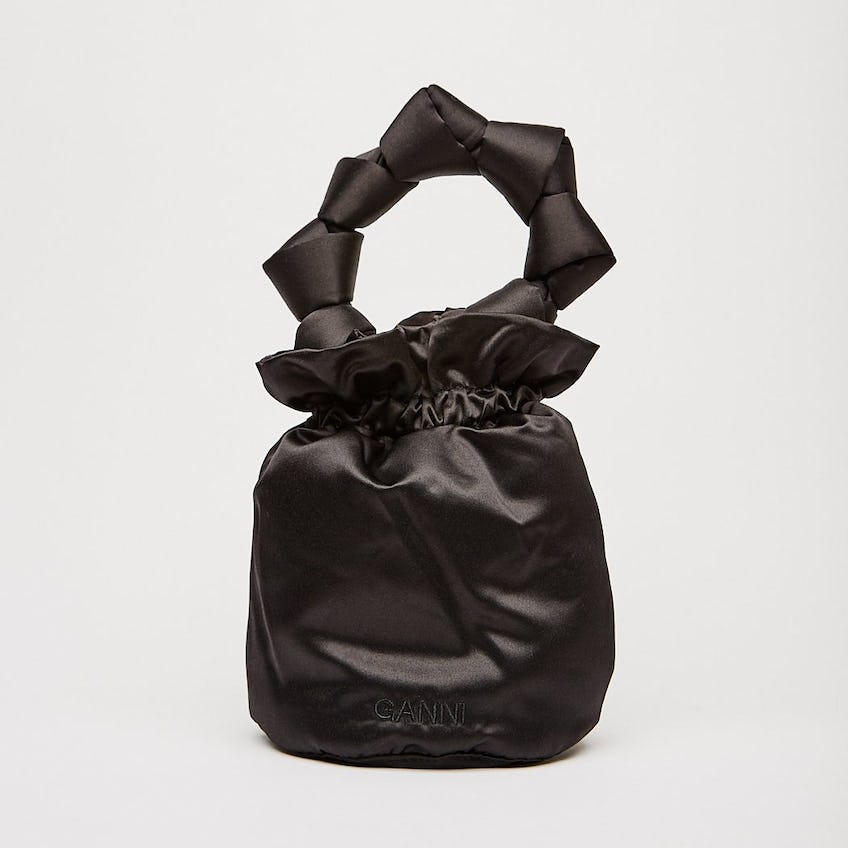 Satin Knotted Pouch 0