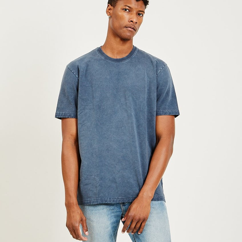 Classic Essential French Terry Tee Washed Navy 0