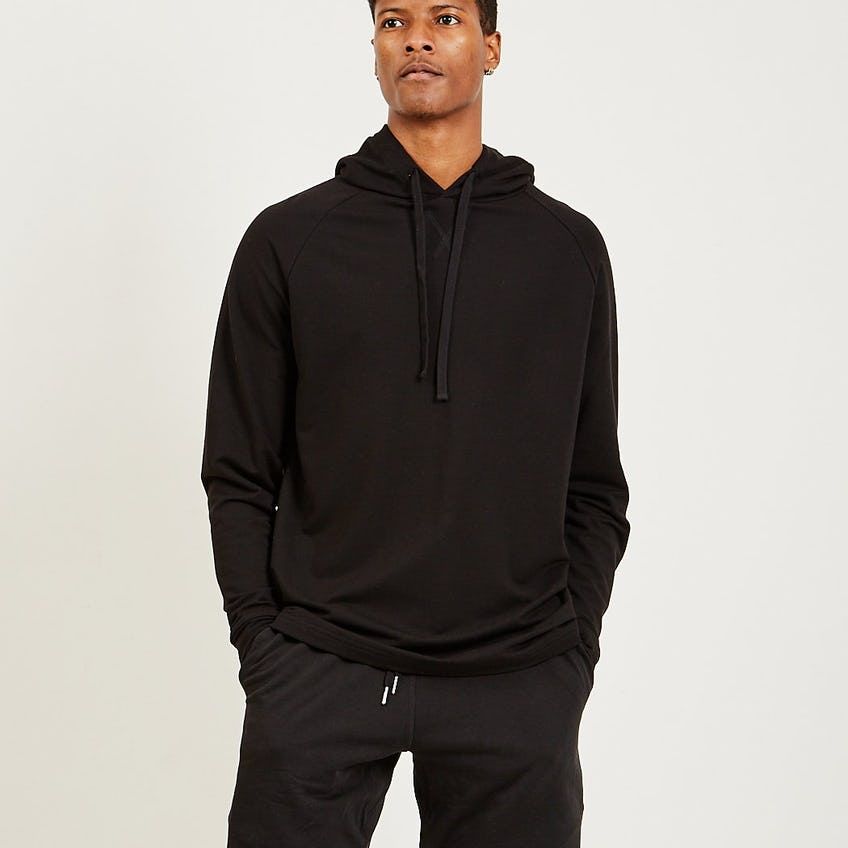 Lightweight French Terry Hoodie Black 0