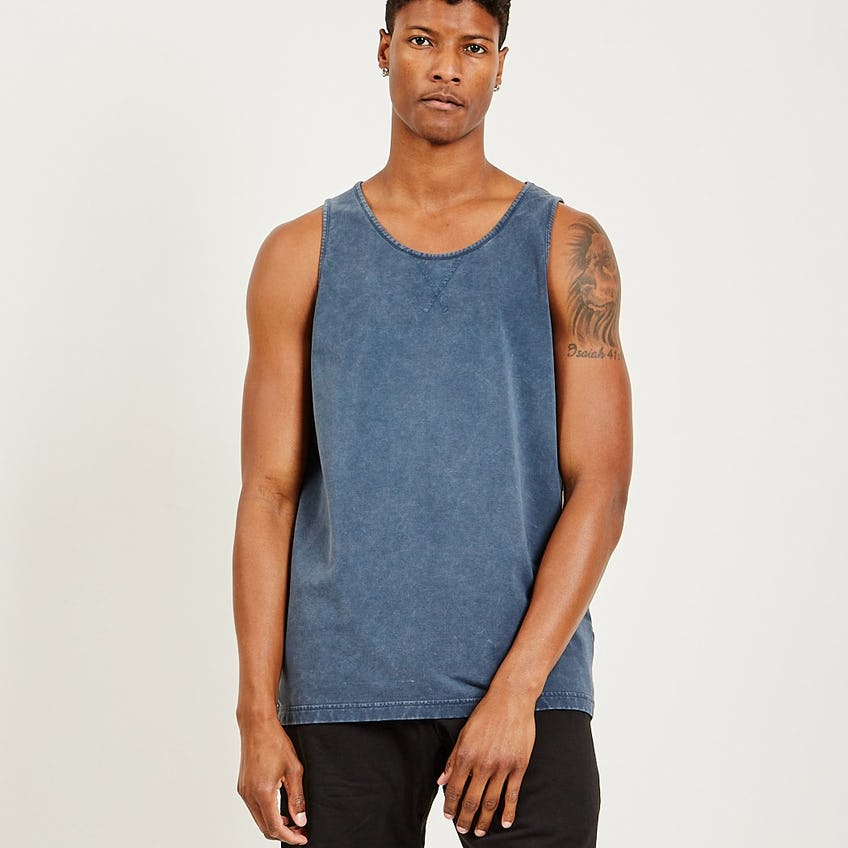 Classic French Terry Tank Navy 0