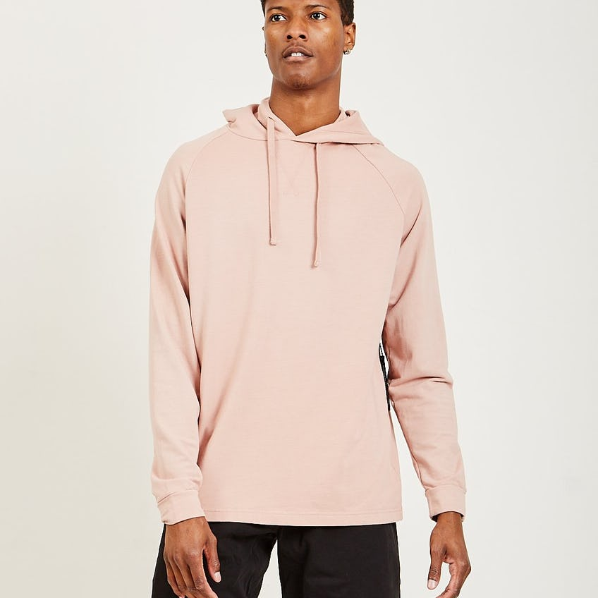 French Terry Hoodie Muted Pink 0
