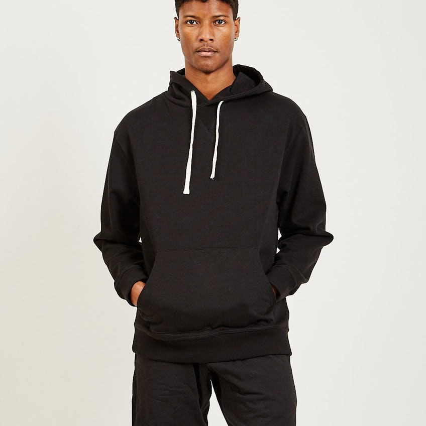 French Terry Hoodie Black 0