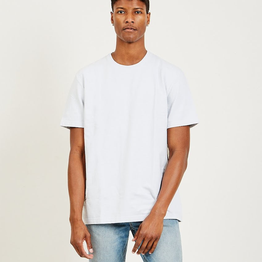 Classic Essential French Terry Tee Washed Grey 0